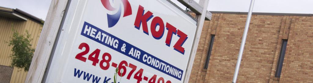 Kotz sign closeup