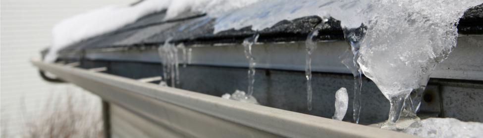 Frozen water on roof - Kotz heating
